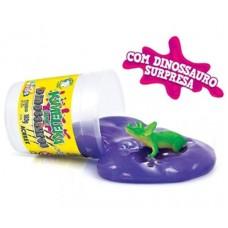 Kimeleka Slime Dinossauros Acrilex - Violeta 180g