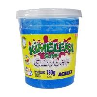 Kimeleka Slime Glitter Acrilex - Azul 180g