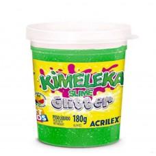 Kimeleka Slime Glitter Acrilex - Verde 180g