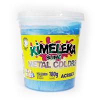 Kimeleka Slime Metal Colors Acrilex - Azul 180g