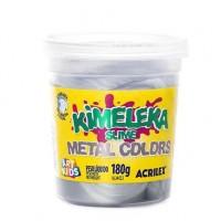 Kimeleka Slime Metal Colors Acrilex - Prata 180g