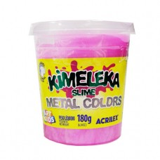 Kimeleka Slime Metal Colors Acrilex - Rosa 180g