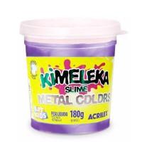 Kimeleka Slime Metal Colors Acrilex - Violeta 180g