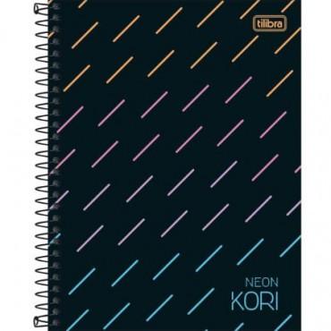 Caderno Colegial Capa Dura 01 Matéria Neon Kori 80F