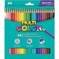 Lápis de Cor Multicolor C/24 Cores