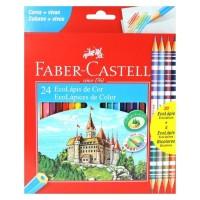 Lapis de Cor Faber Castell C/20 Unidades + 4 Bicolores 1201244B