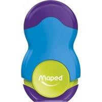 Apontador C/Borracha Maped Loopy Azul