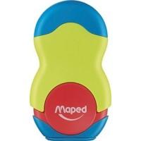 Apontador C/Borracha Maped Loopy Verde