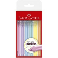 Marca Texto Faber Castell Grifpen Pastel 6 Cores