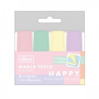 Marca Texto Tilibra Mini Happy C/4 Cores