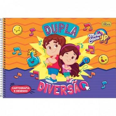 Caderno Desenho Espiral Capa Dura Maria Clara e JP 80 Folhas B