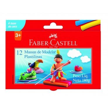 Massa de Modelar Faber Castell Base Cera C/12