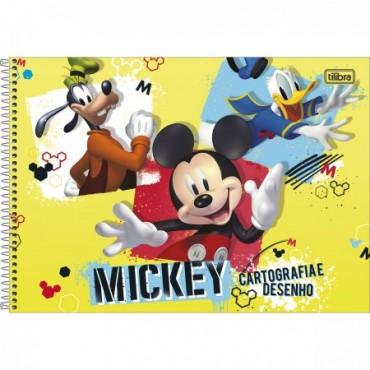 Caderno Desenho Espiral Capa Dura Mickey 80 Folhas A
