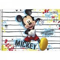 Caderno Desenho Espiral Capa Dura Mickey 80 Folhas B