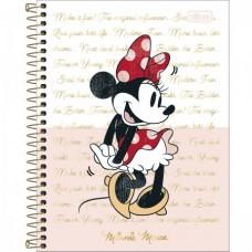 Caderno Colegial Capa Dura 01 Matéria 80 Folhas Minnie B