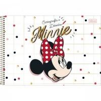 Caderno Desenho Espiral Capa Dura Minnie 80 Folhas A