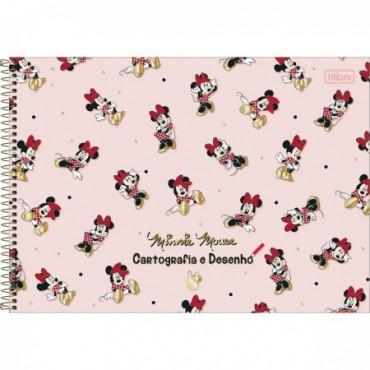 Caderno Desenho Espiral Capa Dura Minnie 80 Folhas B