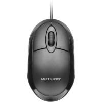 Mouse Óptico Multilaser c/Fio Black