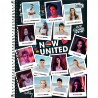 Caderno Universitário Capa Dura 10 Matérias 160 Folhas Now United D