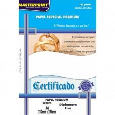 Papel Cartao Masterprint Diplomata Liso A4 180g C/50F – Branco
