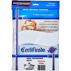 Papel Cartao Masterprint Linho A4 180g C/50F – Branco
