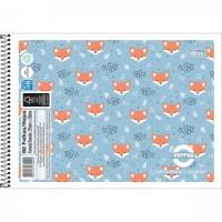 Caderno Desenho Espiral Capa Flexível Pepper 80F A
