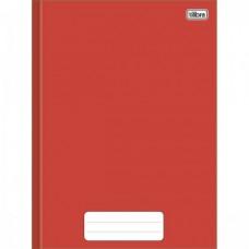 Caderno Brochura Capa Dura 1/4 40F Pepper Vermelho
