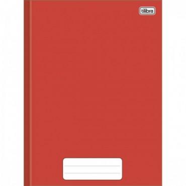 Caderno Brochura Capa Dura 1/4 80F Pepper Vermelho