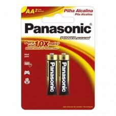 Pilha Alcalina Panasonic Pequena AA c/2