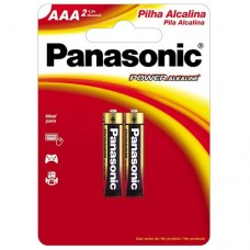 Pilha Alcalina Panasonic Palito AAA c/2