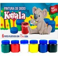 Tinta Pintura a Dedo Koala 15ml 6 Cores