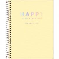 Planner Espiral Grande Happy Amarelo 2021