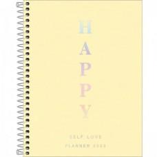 Planner Espiral Grande Happy Amarelo 2022
