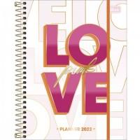 Planner Espiral Grande Love Pink 2022 B