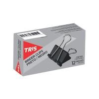Prendedor de Papel 19mm Preto (C/ 12 Unid) Tris