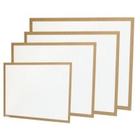 Quadro Branco 100x80 Moldura Madeira