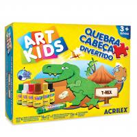 Quebra Cabeça Divertido Acrilex  - T-Rex