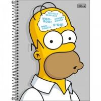 Caderno Universitário Capa Dura 10 Matérias 160 Folhas Simpsons C