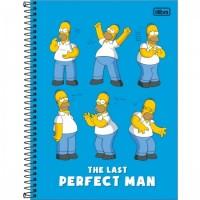 Caderno Universitário Capa Dura 10 Matérias 160 Folhas Simpsons B