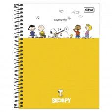 Caderno Colegial Capa Dura 10 Matérias 160 Folhas Snoopy A