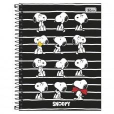 Caderno Colegial Capa Dura 10 Matérias 160 Folhas Snoopy B