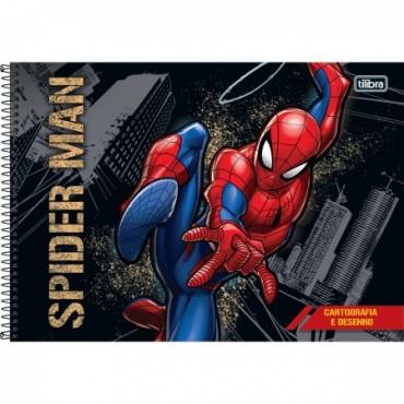 Caderno Desenho Espiral Capa Dura Spider-Man 80 Folhas A