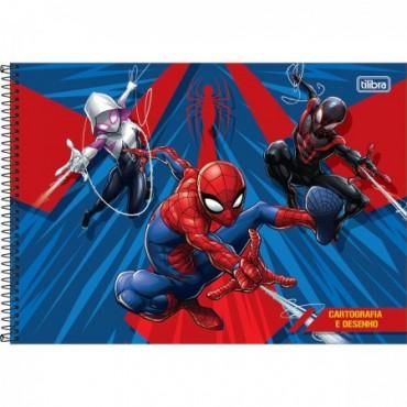 Caderno Desenho Espiral Capa Dura Spider-Man 80 Folhas B