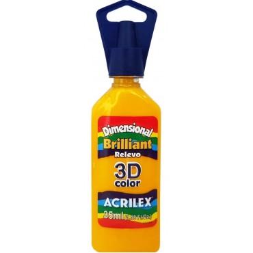 Tinta Dimensional 3D Brilliant 35ml Acrilex – Amarelo Ouro