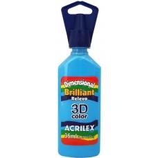 Tinta Dimensional 3D Brilliant 35ml Acrilex – Azul Celeste