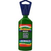 Tinta Dimensional 3D Brilliant 35ml Acrilex – Verde Musgo
