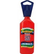 Tinta Dimensional 3D Brilliant 35ml Acrilex – Vermelho Fogo