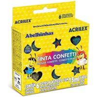 Tinta Confetti Acrilex 15ml C/6