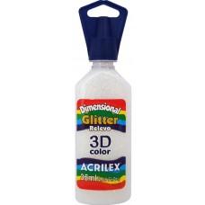 Tinta Dimensional 3D Glitter 35ml Acrilex – Cristal