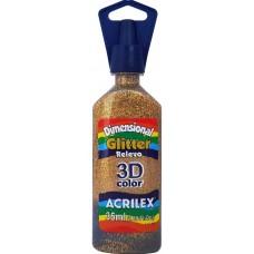 Tinta Dimensional 3D Glitter 35ml Acrilex – Ouro